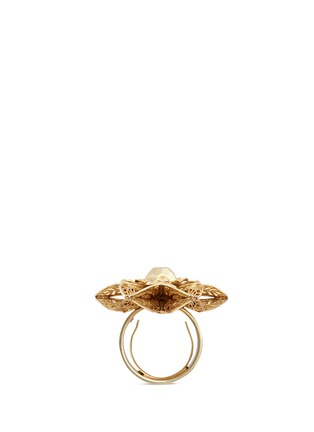 Figure View - Click To Enlarge - Miriam Haskell - Stud filigree floral ring