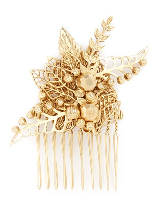 Miriam Haskell - Leaf filigree hair comb