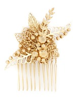 Leaf filigree hair comb