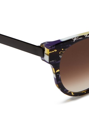 Detail View - Click To Enlarge - Thierry Lasry - 'Affinity' tortoiseshell effect acetate matte metal sunglasses