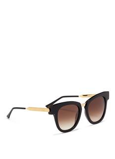 Thierry Lasry'Mondanity' square acetate metal template sunglasses
