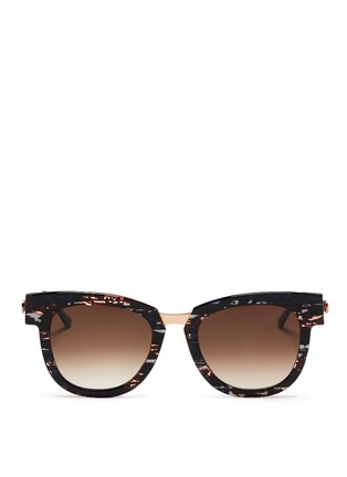 Main View - Click To Enlarge - Thierry Lasry - 'Mondanity' tortoiseshell effect acetate metal temple sunglasses
