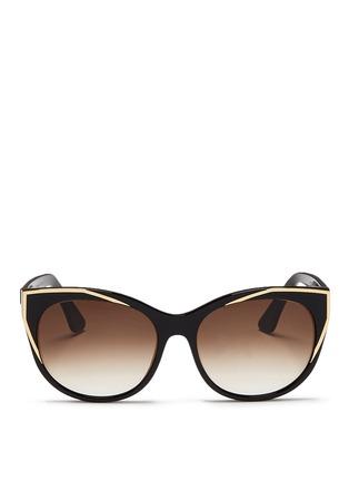 Thierry Lasry-'Polygamy' metal corner acetate cat eye sunglasses