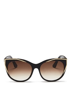 Thierry Lasry 'Polygamy' metal corner acetate cat eye sunglasses