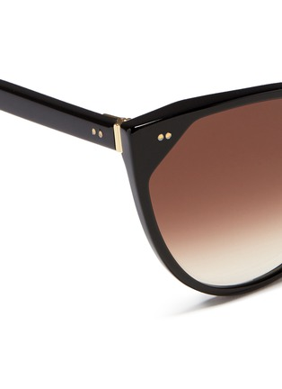Detail View - Click To Enlarge - Thierry Lasry - 'Swappy' slim cat eye acetate sunglasses