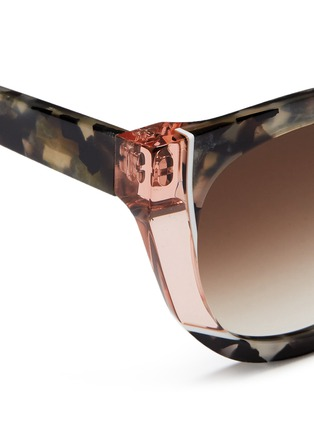 Detail View - Click To Enlarge - Thierry Lasry - 'Nevermindy' colourblock shell effect acetate sunglasses