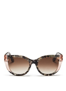 Thierry Lasry 'Nevermindy' colourblock shell effect acetate sunglasses