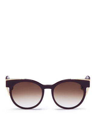 Main View - Click To Enlarge - Thierry Lasry - 'Monogamy' metal corner acetate sunglasses