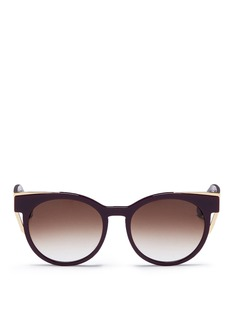 Thierry Lasry'Monogamy' metal corner acetate sunglasses