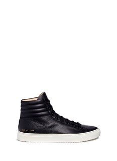 Common Projects 'Premium High' pebbled leather sneakers