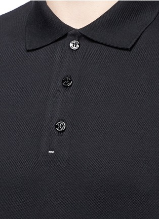 Detail View - Click To Enlarge - DANWARD - Raw edge cotton piqué polo shirt