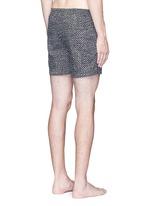 Mid length geometric print swim shorts