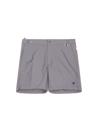 DANWARD-Mid length flat front swim shorts
