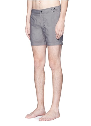 Figure View - Click To Enlarge - DANWARD - Mid length flat front swim shorts