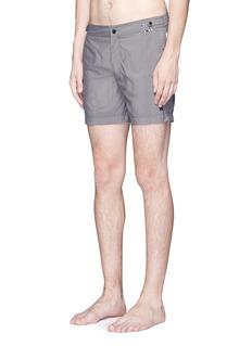 DANWARDMid length flat front swim shorts