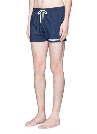 Figure View - Click To Enlarge - DANWARD - Mid length embroidered swim shorts