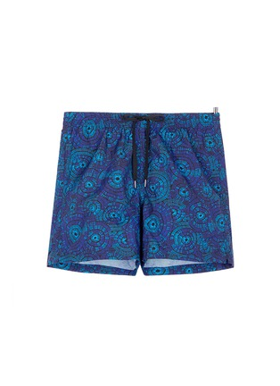 Main View - Click To Enlarge - DANWARD - Mid length floral print swim shorts