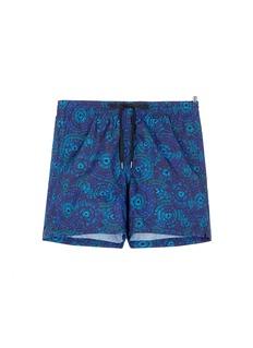 DANWARDMid length floral print swim shorts