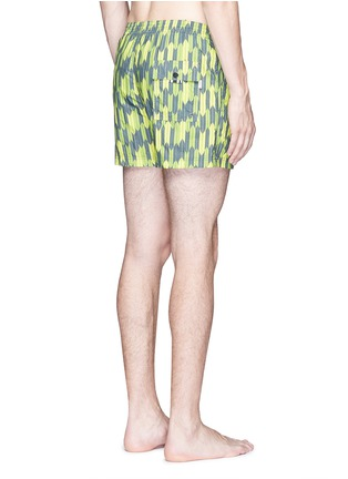 Back View - Click To Enlarge - DANWARD - Mid length arrow print swim shorts
