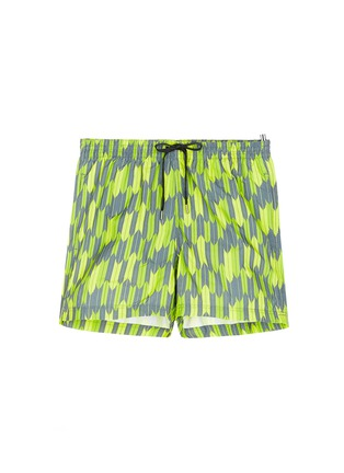 Main View - Click To Enlarge - DANWARD - Mid length arrow print swim shorts