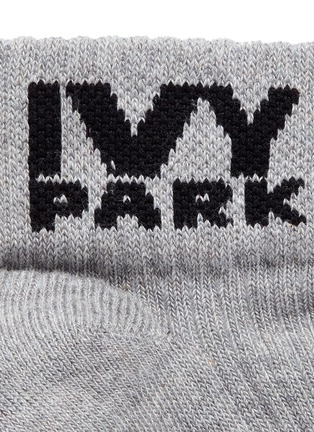 Detail View - Click To Enlarge - Ivy Park - Logo ankle trainer socks