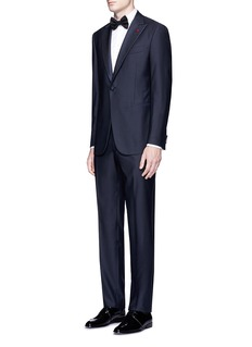 ISAIA'Gregory' floral jacquard trim wool suit