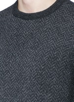 Herringbone wool sweater
