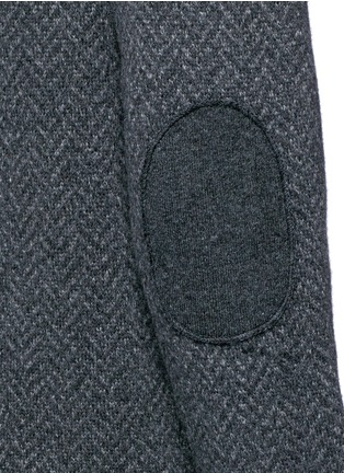 Detail View - Click To Enlarge - ISAIA - Herringbone wool sweater