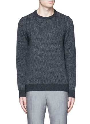 Main View - Click To Enlarge - ISAIA - Herringbone wool sweater
