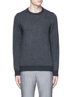 ISAIAHerringbone wool sweater