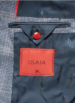 - ISAIA - 'Gregory' wool houndstooth suit
