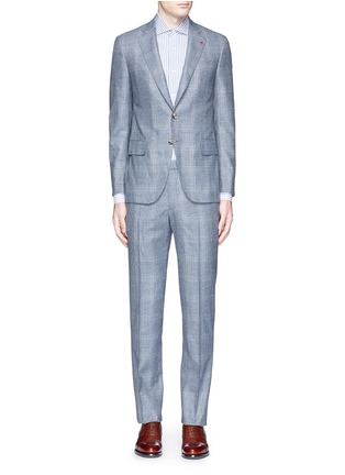 Main View - Click To Enlarge - ISAIA - 'Gregory' wool houndstooth suit