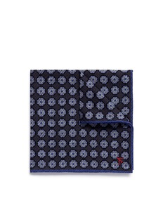 ISAIA Floral print silk twill pocket square