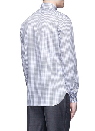 Back View - Click To Enlarge - ISAIA - 'Milano' check cotton shirt