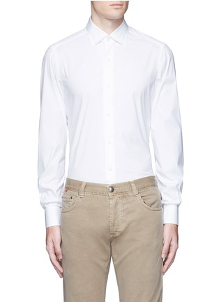 Main View - Click To Enlarge - ISAIA - 'Parma' stretch cotton shirt
