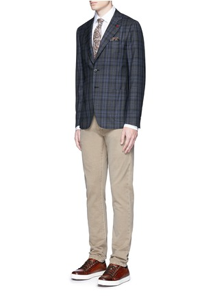 Figure View - Click To Enlarge - ISAIA - 'Parma' stretch cotton shirt
