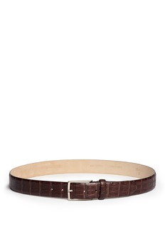 ISAIA Croc embossed leather belt