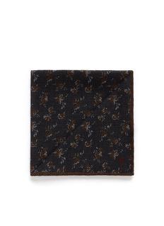 ISAIASmall floral print wool-silk pocket square