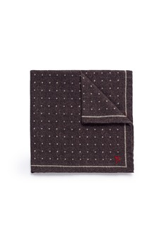 ISAIA Polka dot print wool-silk pocket square
