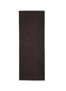 ISAIACoral herringbone cashmere-wool scarf