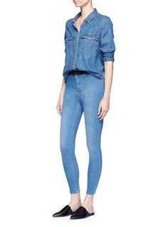 Topshop'Joni' high waist petite cropped denim pants