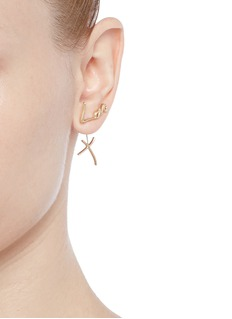 Stephen Webster 'Neon Love and Kisses' 18k yellow gold asymmetric earrings