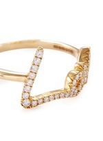 'Neon Love' diamond pavé 18k yellow gold ring