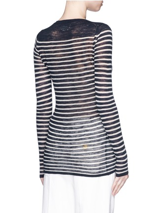 Back View - Click To Enlarge - Isabel Marant Étoile - Stripe linen-blend knit sweater