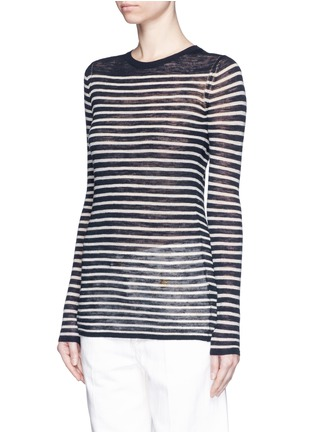 Front View - Click To Enlarge - Isabel Marant Étoile - Stripe linen-blend knit sweater