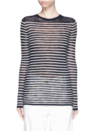 Main View - Click To Enlarge - Isabel Marant Étoile - Stripe linen-blend knit sweater