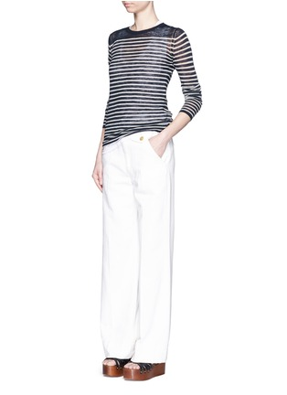 Figure View - Click To Enlarge - Isabel Marant Étoile - Stripe linen-blend knit sweater