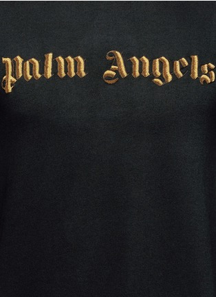 Detail View - Click To Enlarge - Palm Angels - Metallic logo embroidery sweatshirt