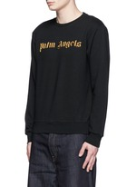 Metallic logo embroidery sweatshirt