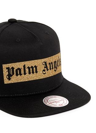 细节 - 点击放大 - PALM ANGELS - 金色闪粉品牌标志纯棉棒球帽
